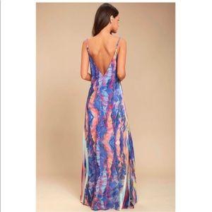 Watercolors Maxi Dress